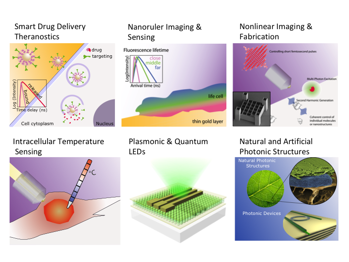 Main Research Lines of the Ultrafast Bio- and Nanophotonics Group